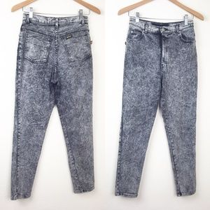 VTG 90s SASSON Acid Wash Stretch Denim Mom Jeans